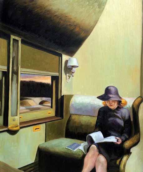 Edward Hopper Compartment C Car 1938   Edward Hopper Paintings, Aquarelles, Illustrations, Ads 1900-1966