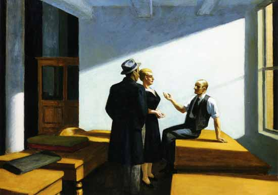 Edward Hopper Conference at Night 1949 | Edward Hopper Paintings, Aquarelles, Illustrations, Ads 1900-1966