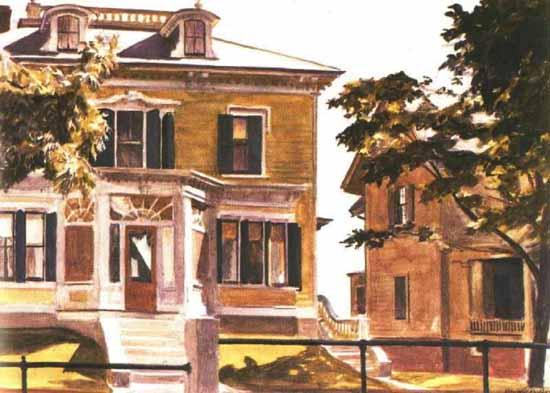 Edward Hopper Davis House 1926 | Edward Hopper Paintings, Aquarelles, Illustrations, Ads 1900-1966