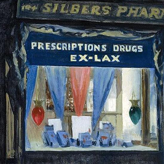 Edward Hopper Drugstore 1927 crop B | Edward Hopper Paintings, Aquarelles, Illustrations, Ads 1900-1966