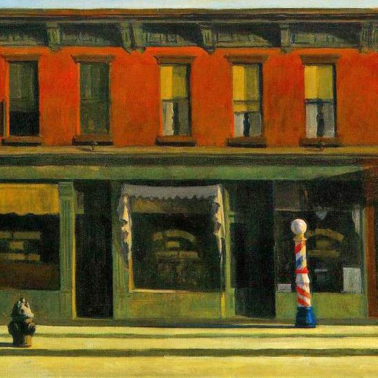 Edward Hopper Early Sunday Morning 1930 crop   Edward Hopper Paintings, Aquarelles, Illustrations, Ads 1900-1966
