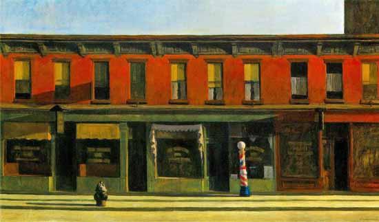 Edward Hopper Early Sunday Morning 1930 | Edward Hopper Paintings, Aquarelles, Illustrations, Ads 1900-1966
