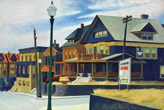 Edward Hopper East Wind over Weehawken 1934 | Edward Hopper Paintings, Aquarelles, Illustrations, Ads 1900-1966