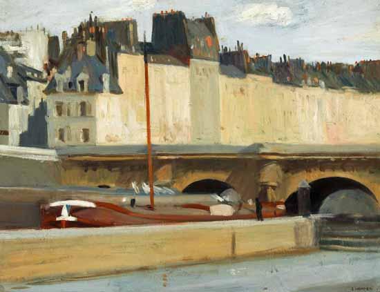 Edward Hopper Ecluse de la Monnaie 1909   Edward Hopper Paintings, Aquarelles, Illustrations, Ads 1900-1966