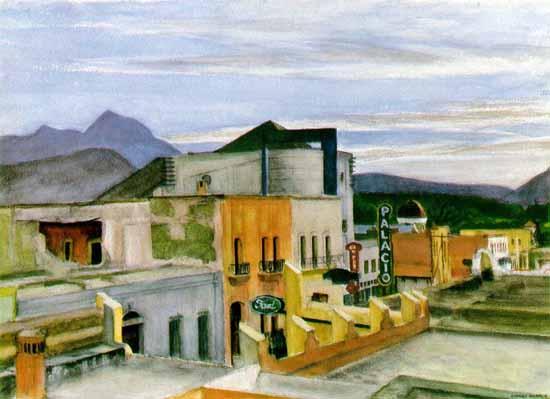 Edward Hopper El Palacio 1946   Edward Hopper Paintings, Aquarelles, Illustrations, Ads 1900-1966