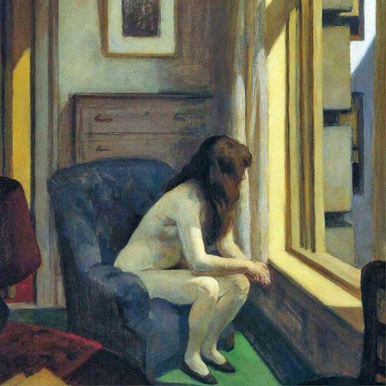 Edward Hopper Eleven AM 1926 crop | Edward Hopper Paintings, Aquarelles, Illustrations, Ads 1900-1966