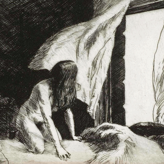 Edward Hopper Evening Wind 1921 crop | Edward Hopper Paintings, Aquarelles, Illustrations, Ads 1900-1966