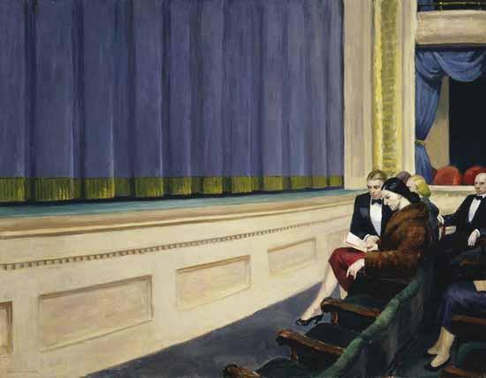 Edward Hopper First Row Orchestra 1951 | Edward Hopper Paintings, Aquarelles, Illustrations, Ads 1900-1966