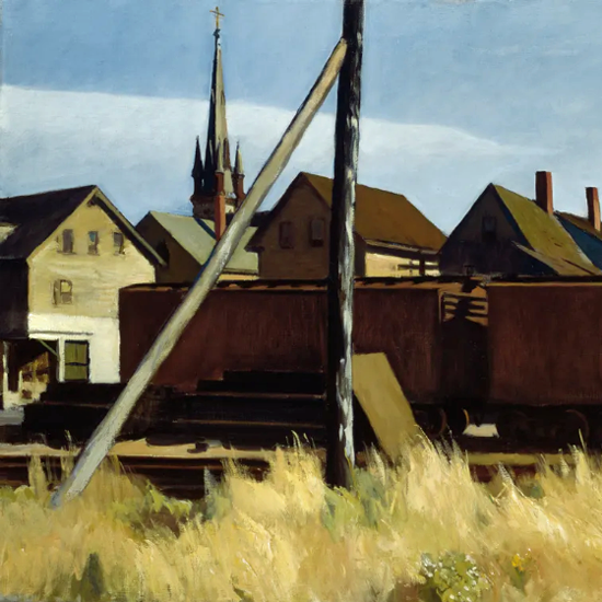 Edward Hopper Freight Cars 1928 crop | Edward Hopper Paintings, Aquarelles, Illustrations, Ads 1900-1966