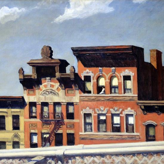 Edward Hopper From Williamsburg Bridge 1928 crop | Edward Hopper Paintings, Aquarelles, Illustrations, Ads 1900-1966