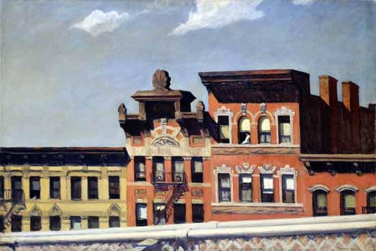 Edward Hopper From Williamsburg Bridge 1928 | Edward Hopper Paintings, Aquarelles, Illustrations, Ads 1900-1966