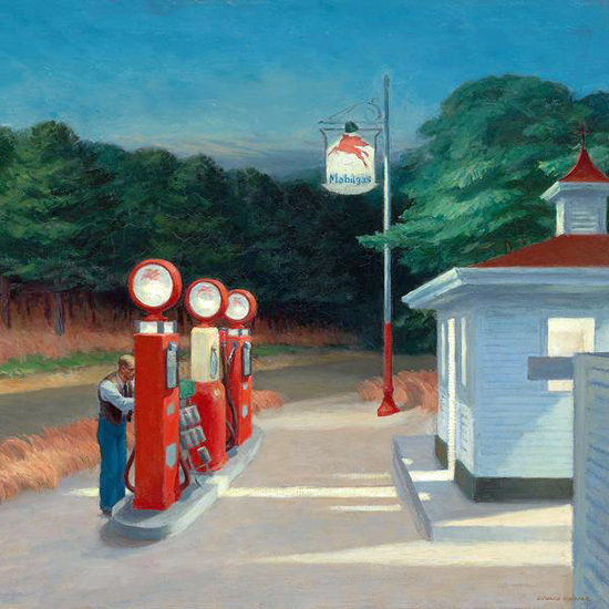 Edward Hopper Gas 1940 crop A | Edward Hopper Paintings, Aquarelles, Illustrations, Ads 1900-1966