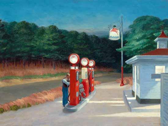 Edward Hopper Gas 1940   Edward Hopper Paintings, Aquarelles, Illustrations, Ads 1900-1966