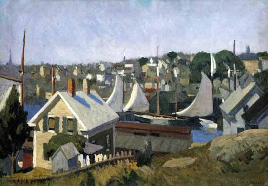 Edward Hopper Gloucester Harbor 1912 | Edward Hopper Paintings, Aquarelles, Illustrations, Ads 1900-1966