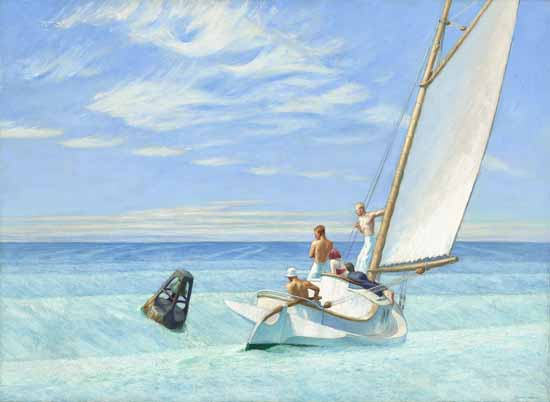 Edward Hopper Ground Swell 1939 | Edward Hopper Paintings, Aquarelles, Illustrations, Ads 1900-1966