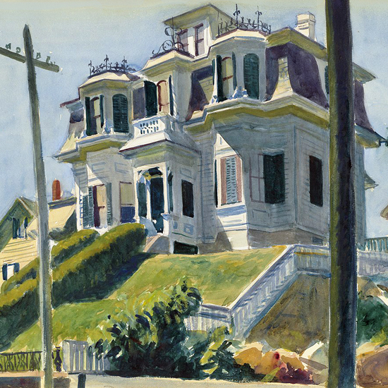 Edward Hopper Haskells House 1924 crop | Edward Hopper Paintings, Aquarelles, Illustrations, Ads 1900-1966