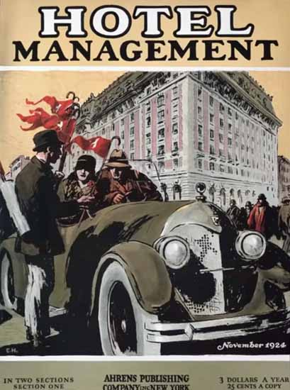 Edward Hopper Hotel Management 11-1924 | Edward Hopper Paintings, Aquarelles, Illustrations, Ads 1900-1966