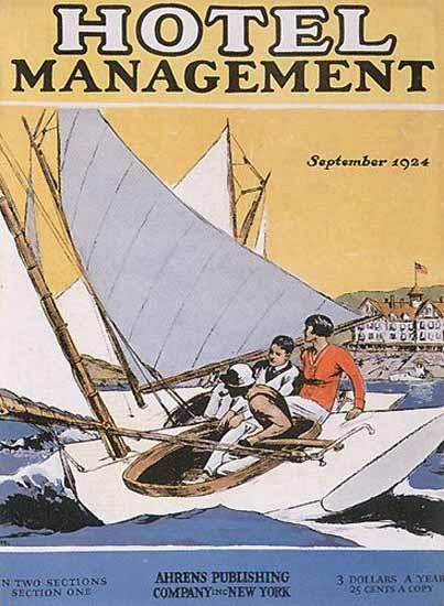Edward Hopper Hotel Management 9-1924 | Edward Hopper Paintings, Aquarelles, Illustrations, Ads 1900-1966