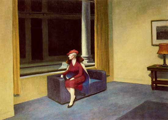 Edward Hopper Hotel Window 1955 | Edward Hopper Paintings, Aquarelles, Illustrations, Ads 1900-1966