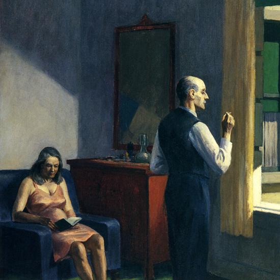 Edward Hopper Hotel by a Railroad 1952 crop C | Edward Hopper Paintings, Aquarelles, Illustrations, Ads 1900-1966