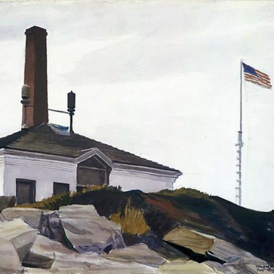 Edward Hopper House of the Foghorn 1927 crop | Edward Hopper Paintings, Aquarelles, Illustrations, Ads 1900-1966