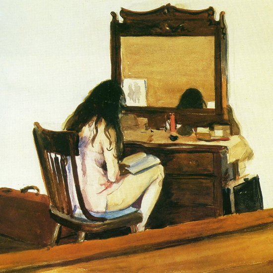 Edward Hopper Interior 1925 crop | Edward Hopper Paintings, Aquarelles, Illustrations, Ads 1900-1966
