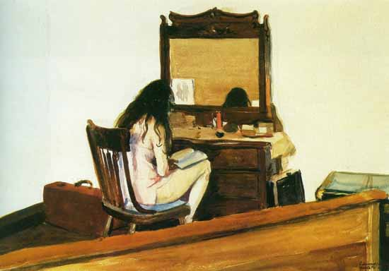 Edward Hopper Interior 1925 | Edward Hopper Paintings, Aquarelles, Illustrations, Ads 1900-1966