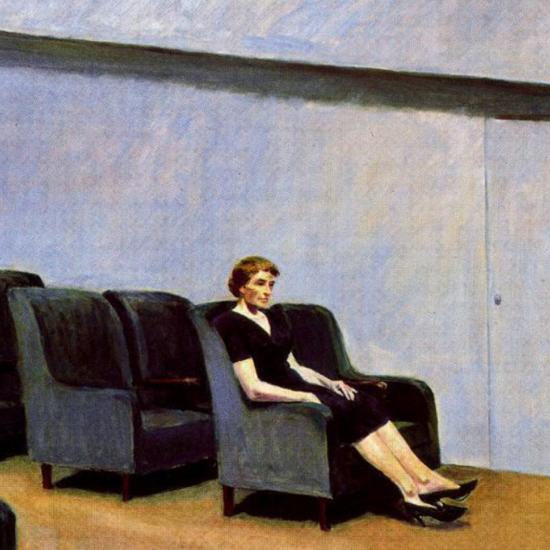 Edward Hopper Intermission 1963 crop | Edward Hopper Paintings, Aquarelles, Illustrations, Ads 1900-1966