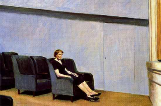 Edward Hopper Intermission 1963 | Edward Hopper Paintings, Aquarelles, Illustrations, Ads 1900-1966