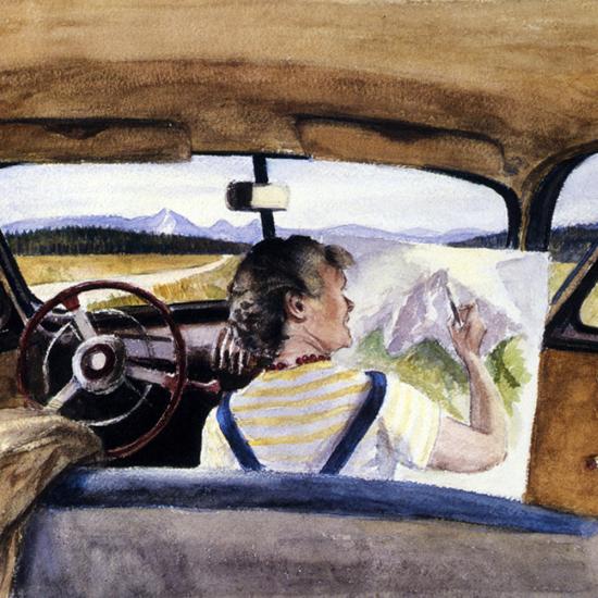 Edward Hopper Jo In Wyoming 1946 crop | Edward Hopper Paintings, Aquarelles, Illustrations, Ads 1900-1966