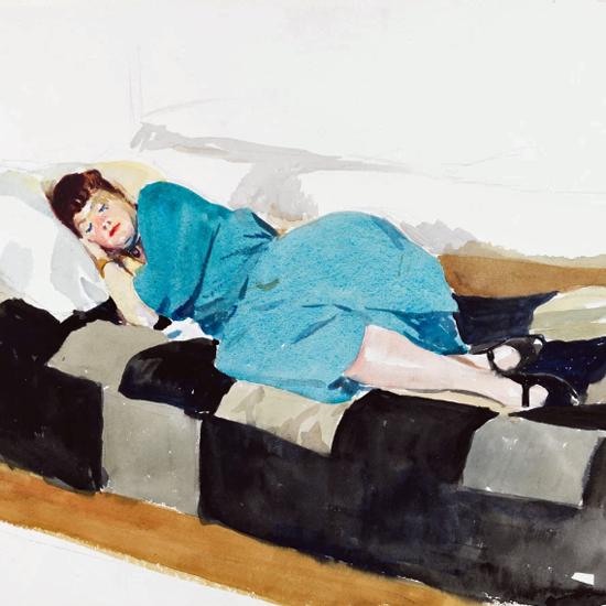 Edward Hopper Jo Sleeping 1924 crop | Edward Hopper Paintings, Aquarelles, Illustrations, Ads 1900-1966