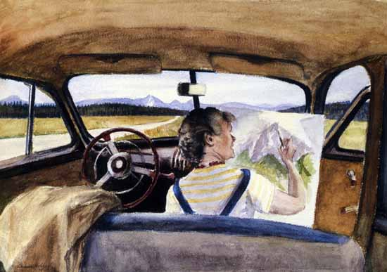 Edward Hopper Jo in Wyoming 1946 | Edward Hopper Paintings, Aquarelles, Illustrations, Ads 1900-1966