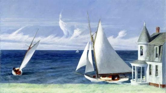Edward Hopper Lee Shore 1941 | Edward Hopper Paintings, Aquarelles, Illustrations, Ads 1900-1966