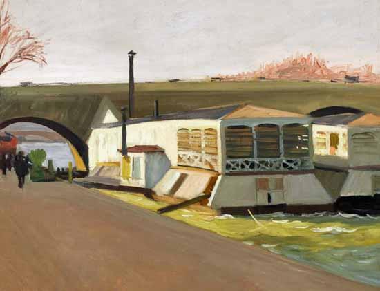 Edward Hopper Les Lavoirs Pont Royal 1907 | Edward Hopper Paintings, Aquarelles, Illustrations, Ads 1900-1966