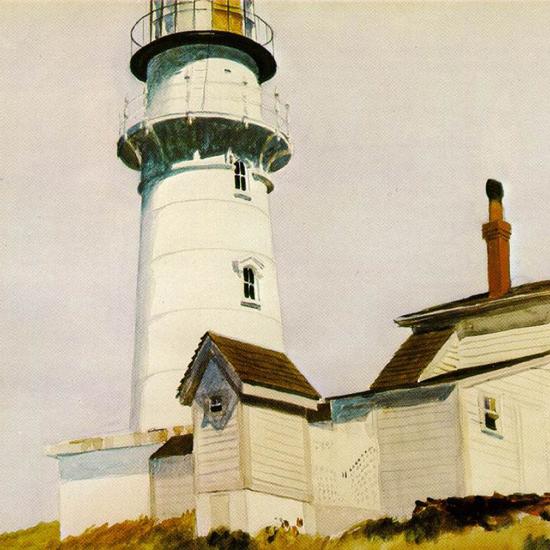 Edward Hopper Light at Two Lights 1927 crop | Edward Hopper Paintings, Aquarelles, Illustrations, Ads 1900-1966