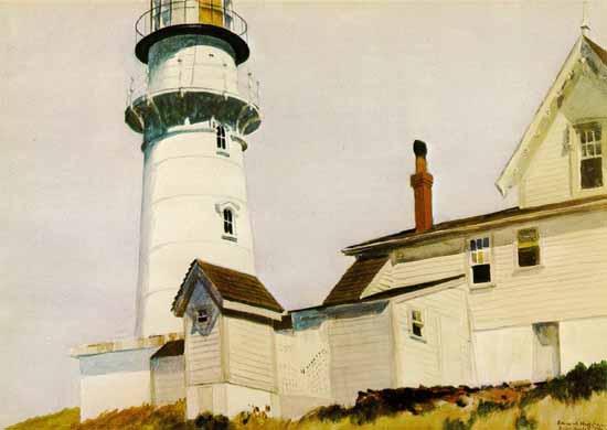 Edward Hopper Light at Two Lights 1927   Edward Hopper Paintings, Aquarelles, Illustrations, Ads 1900-1966