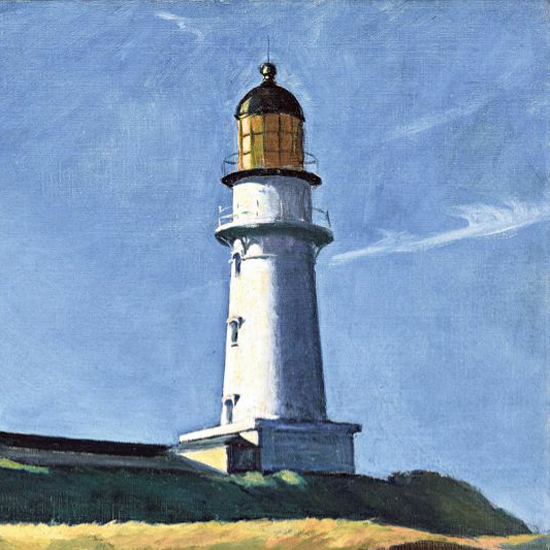 Edward Hopper Lighthouse Hill 1927 crop B | Edward Hopper Paintings, Aquarelles, Illustrations, Ads 1900-1966