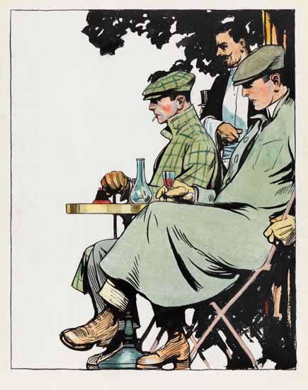 Edward Hopper Men Seated at Cafe Table 1906 | Edward Hopper Paintings, Aquarelles, Illustrations, Ads 1900-1966