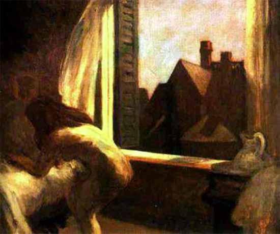 Edward Hopper Moonlight Interior 1921-23   Edward Hopper Paintings, Aquarelles, Illustrations, Ads 1900-1966