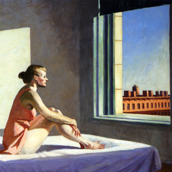 Edward Hopper Morning Sun 1952 crop A | Edward Hopper Paintings, Aquarelles, Illustrations, Ads 1900-1966
