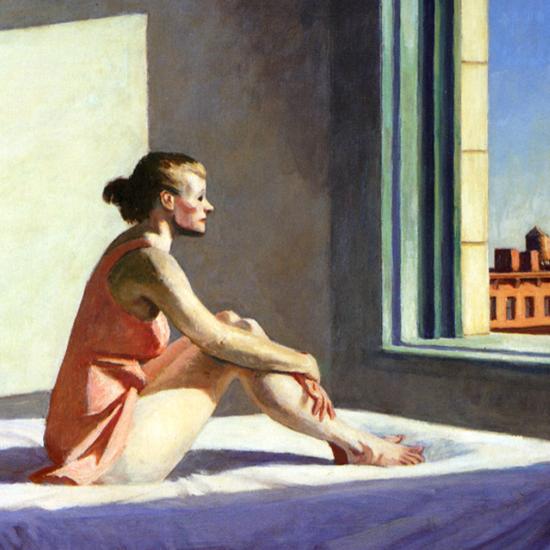 Edward Hopper Morning Sun 1952 crop B | Edward Hopper Paintings, Aquarelles, Illustrations, Ads 1900-1966