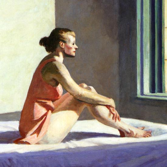 Edward Hopper Morning Sun 1952 crop C | Edward Hopper Paintings, Aquarelles, Illustrations, Ads 1900-1966