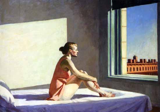 Edward Hopper Morning Sun 1952 | Edward Hopper Paintings, Aquarelles, Illustrations, Ads 1900-1966