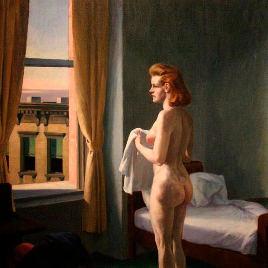 Edward Hopper Morning in a City 1944 crop A | Edward Hopper Paintings, Aquarelles, Illustrations, Ads 1900-1966
