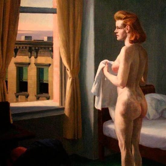 Edward Hopper Morning in a City 1944 crop B | Edward Hopper Paintings, Aquarelles, Illustrations, Ads 1900-1966