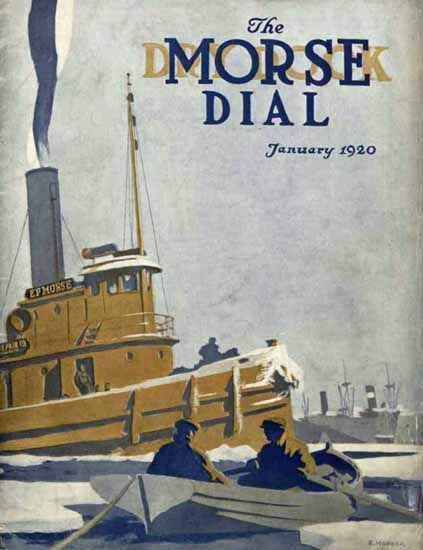 Edward Hopper Morse Dry Dock Dial 1-1920 | Edward Hopper Paintings, Aquarelles, Illustrations, Ads 1900-1966