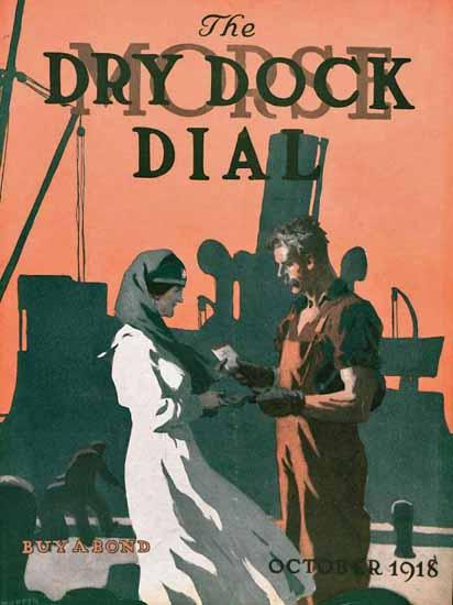 Edward Hopper Morse Dry Dock Dial 10-1918 | Edward Hopper Paintings, Aquarelles, Illustrations, Ads 1900-1966