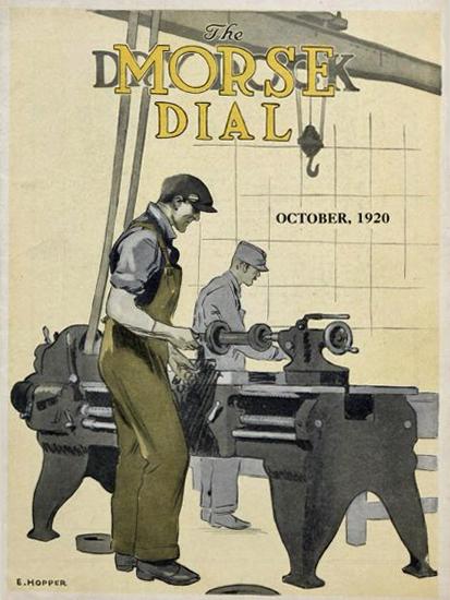 Edward Hopper Morse Dry Dock Dial 10-1920   Edward Hopper Paintings, Aquarelles, Illustrations, Ads 1900-1966