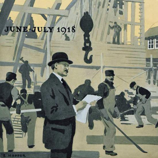Edward Hopper Morse Dry Dock Dial 7-1918 crop | Edward Hopper Paintings, Aquarelles, Illustrations, Ads 1900-1966