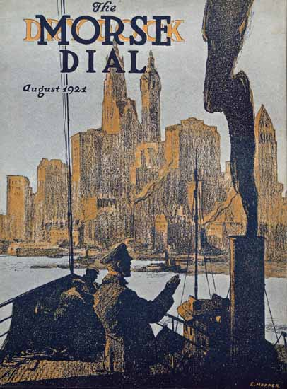 Edward Hopper Morse Dry Dock Dial 8-1921 | Edward Hopper Paintings, Aquarelles, Illustrations, Ads 1900-1966